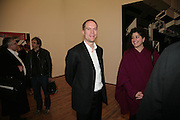Harry Blain and Giovanna Caleel, Harry Blain, Planit- Exhibition of work by Ian Munroe. Haunch of Venison. London. 1 March 2007.  -DO NOT ARCHIVE-© Copyright Photograph by Dafydd Jones. 248 Clapham Rd. London SW9 0PZ. Tel 0207 820 0771. www.dafjones.com.