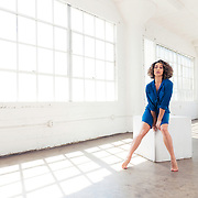 Studio fashion shoot with professional dancer, actress, trainer, and fitness model, Michelle Janine. Images made at FD Photo Studios; Stage Art 4 on March 28, 2018 in Downtown Los Angeles, California.  ©Michael Der, All Rights Reserved.  Please contact Michael Der for all licensing requests.