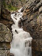 Victoria Falls along the Lake Oesa Trail, above Lake O'Hara in Yoho National Park, near Field, British Columbia, Canada