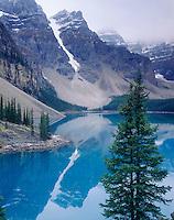 Reflections on Moraine Lake, Banff National Park Alberta Canada