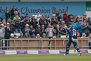Peter Handscomb (Yorkshire Vikings) gets a standing ovation for his innings as he walks back to the pavilion during the Royal London 1 Day Cup match between Yorkshire County Cricket Club and Lancashire County Cricket Club at Headingley Stadium, Headingley, United Kingdom on 1 May 2017. Photo by Mark P Doherty.