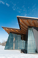 The Craig Thomas Visitor Center in Grand Teton National Park, Jackson Hole, Wyoming.