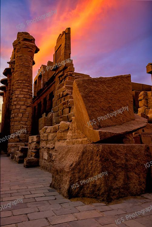 Sunset at Karnak Temple in Luxor