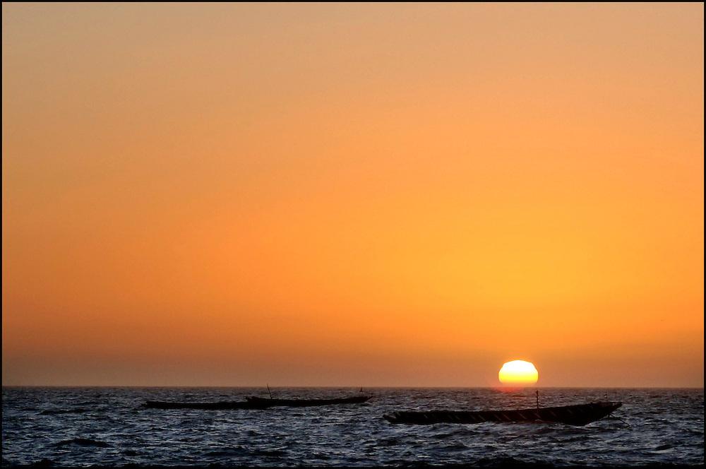 Mauritania October 27, 2006 -  Nouakchott Beach at sunset with Red Sun Tours. ©Jean-Michel Clajot