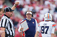 FAYETTEVILLE, AR - OCTOBER 24:  Head Coach Gus Malzahn of the Auburn Tigers on the sidelines during a game against the Arkansas Razorbacks at Razorback Stadium Stadium on October 24, 2015 in Fayetteville, Arkansas.  The Razorbacks defeated the Tigers in 4 OT's 54-46.  (Photo by Wesley Hitt/Getty Images) *** Local Caption *** Gus Malzahn
