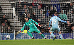 Sunderland's Aiden McGeady scores his side's third goal of the game from the penalty spot