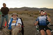 Barbara Buatois komt bij na haarrace op de vierde racedag van de WHPSC. In de buurt van Battle Mountain, Nevada, strijden van 10 tot en met 15 september 2012 verschillende teams om het wereldrecord fietsen tijdens de World Human Powered Speed Challenge. Het huidige record is 133 km/h.<br /> <br /> Barbara Buatois is recovering after her race on the fourth day of the WHPSC. Near Battle Mountain, Nevada, several teams are trying to set a new world record cycling at the World Human Powered Vehicle Speed Challenge from Sept. 10th till Sept. 15th. The current record is 133 km/h.