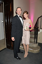 LORD EDWARD SPENCER-CHURCHILL and RAMONA CHMURA at the Sugarplum Dinner - The event was for the launch of Sugarplum Children, a new website and fundraising initiative for children who live with type 1 diabetes, and to raise money for JDRF (Juvenile Diabetes Research Foundation) held at One Mayfair, 13A North Audley Street, London on 20th November 2013.