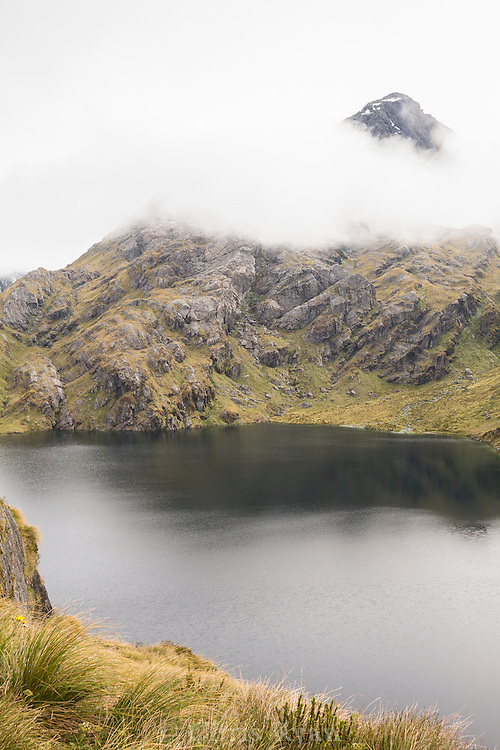 Mountain lake by the Routeburn Track, South Island, New Zealand