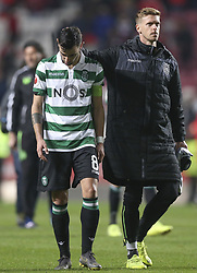 February 7, 2019 - Na - Lisbon, 06/02/2019 - SL Benfica received this evening the Sporting CP in the Stadium of Light, in game the account for the first leg of the Portuguese Cup 2018/19 semi final. Bruno Fernandes  (Credit Image: © Atlantico Press via ZUMA Wire)