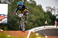 #115 (VILLEGAS CASTANO Valentina) COL at Round 7 of the 2019 UCI BMX Supercross World Cup in Rock Hill, USA