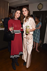 Left to right, Elysia Wren and Frankie Herbert at The Tribe Syndicate launch party hosted by Highclere Thoroughbred Racing at Beaufort House, 354 King's Rd, London England. 25 April 2018.