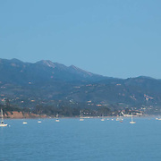 Panoramic view of bay. Santa barbara, CA.