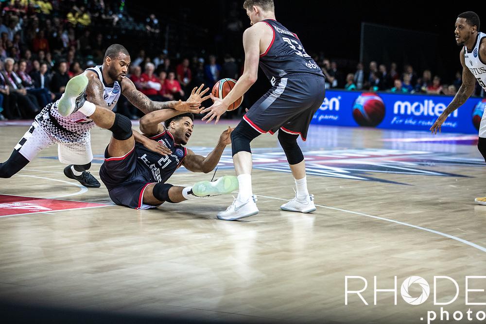 Augustin Rubit (USA/Brose Bamberg)<br /> <br /> <br /> Basketball Champions League Final Four Antwerp 2019<br /> Semi-Final: Virtus Segafredo Bologna (ITA) vs. Brose Bamberg (GER) : 67-50 <br /> <br /> ©RhodePhoto