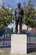 Sir Alf Ramsey statue, Ipswich, Suffolk, England