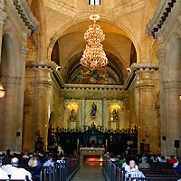 Central America, Cuba, Havana. The Cathedral of Havana interior.