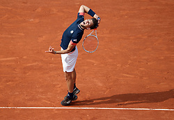 June 10, 2018 - Paris, France - RAFAEL NADAL of Spain plays against Dominic Thiem of Austria  during their final match at the French Tennis Open at Roland Garros.  Nadal won 6-4, 6-3, 6-2. (Credit Image: © Maya Vidon-White via ZUMA Wire)
