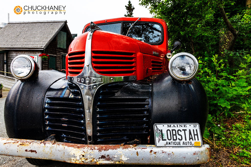Old truck at Thurstons Lobster Pound in Bernard, Maine, USA