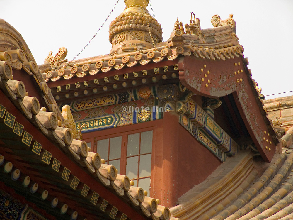 roof decoration on an old building China Beijing