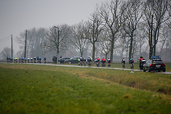 Peloton get strung out at Driedaagse Brugge - De Panne 2018 - a 151.7 km road race from Brugge to De Panne on March 22, 2018. Photo by Sean Robinson/Velofocus.com