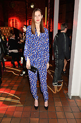 ZOE HUXFORD at the YSL Beauty: YSL Loves Your Lips party held at The Boiler House,The Old Truman Brewery, Brick Lane,London on 20th January 2015.