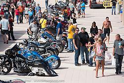 Boardwalk bike show during Biketoberfest. Daytona Beach, FL, USA. Thursday October 19, 2017. Photography ©2017 Michael Lichter.