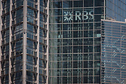 The London headquarters of the Royal Bank of Scotland RBS on Bishopsgate, on 15th August 2016 in the City of London, UK.  The Royal Bank of Scotland is one of the retail banking subsidiaries of The Royal Bank of Scotland Group plc, and together with NatWest and Ulster Bank, provides banking facilities throughout the UK and Ireland with around 700 branches, mainly in Scotland though there are branches in many larger towns and cities throughout England and Wales.