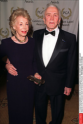 Kirk Douglas Dies At 103 - © Lionel Hahn/ABACA. 24102-10. Los Angeles-CA-USA, 03/03/01. 12th Golden Laurel Awards of the Producers Guild of America. Pictured : Kirk Douglas & wife Anne.