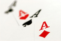 17 May 2005: Poker, playing, cards, Ace, A, K, Q, J, board, game, stock, closeup, texture, Sports Ball graphic detail, illustration, product, art, clean, white background. Ready for all uses. International Sport.  Mandatory Credit:  Shelly Castellano