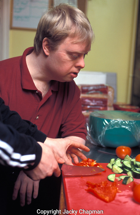 Disabled people cooking