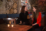 KATIE GATENS; CLAIRE GATENS, The launch of Beaver Lodge in Chelsea, a cabin bar and dance saloon, 266 Fulham Rd. London. 4 December 2014