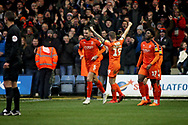 Luton Town FC forward James Collins (19) celebrates his goal 2-0  during the EFL Sky Bet League 1 match between Luton Town and Peterborough United at Kenilworth Road, Luton, England on 19 January 2019.
