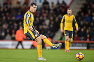 Arsenal Midfielder, Granit Xhaka (29) during the Premier League match between Bournemouth and Arsenal at the Vitality Stadium, Bournemouth, England on 3 January 2017. Photo by Adam Rivers.