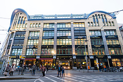 View of Hackescher Hof, historic retail and culture development in Mitte Berlin Germany
