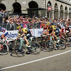 GENUA (ITA) wielrennen<br /> Steven Kruijswijk in de straten van Genua tijdens de eerste etappe van de Giro d'Italia