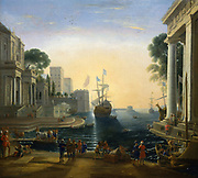 'Harbour' after Claude Lorraine (Claude Gelee 1600-1682). French School, early 19th century. Louvre, Paris.