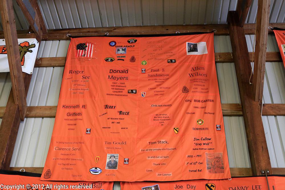 Agent Orange quilts Kokomo Indiana Vietnam Veterans Reunion 2012