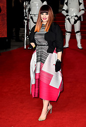Ana Matronic attending the european premiere of Star Wars: The Last Jedi held at The Royal Albert Hall, London.