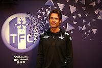 Dominique Arribage  - 16.03.2015 - Nouvel entraineur -  Conference de presse de Toulouse <br />Photo :  Manuel Blondeau / Icon Sport