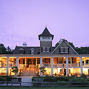 Magnolia Plantation in Charleston is seen at dusk during a wedding reception.  ©Travis Bell Photography