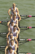 Seville, Andalusia, SPAIN<br /> <br /> 2002 World Rowing Championships - Seville - Spain Sunday 15/09/2002.<br /> <br /> Rio Guadalquiver Rowing course<br /> <br /> GBR M8+ Bow. Alex PARTRIDGE, Dan<br /> OUSELEY,  Jonathan DEVLIN,  Andrew<br /> TRIGGS HODGE, Ben BURCH, Phil<br /> SIMMONS, Robin BOURNE-TAYLOR, Robin<br /> Joe VON MALTZAHN and Cox Peter RUDGE, <br /> <br /> [Mandatory Credit:Peter SPURRIER/Intersport Images]