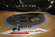 A general view as Team New Zealand compete in the Women's team pursuit qualifying during the The UCI Cycling Track World Championships at The Veledrom, Wednesday, Feb. 26, 2020, in  Berlin, Germany. (Mitchell Gunn-Espa-Images/Image of Sport)