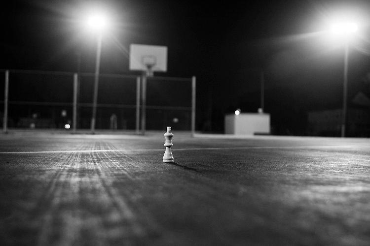 A Chess piece on the Playground.