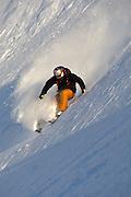 Tomas Kraus skiing near Valdez, Alaska. MR