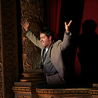 Tenor Darren Abrahams as Molqi pictured during the Scottish Opera dress rehearsal for The Edinburgh International Festival production of 'The Death of Klinghoffer' by John Adams. It is directed by Anthony Neilson and conducted by Edward Gardner. This is the first British staging of John AdamsÕs second opera. The Death of Klinghoffer is based on the true story of the hijacking by terrorists of a cruise ship, the Achille Lauro, in 1985 and the subsequent murder of one of the passengers. The production opens at The Edinburgh Festival Theatre Tuesday 23rd August, Thursday 27th August, Saturday 27th and Monday 29th August 2005. Picture © Drew Farrell . (Drew Farrell  07721- 735041 ) . Scottish Opera Contact : Press Manager Libby Jones Tel 0141 248 4567 or EIF Press Manager Susie Burnet Tel : 0131-473-2020. Note to Editors:  This image is free to be used editorially in the promotion of the forthcoming production. Without prejudice ALL other licences without prior consent will be deemed a breach of copyright under the 1988. Copyright Design and Patents Act  and will be subject to payment or legal action, where appropriate.