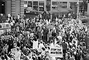 """1308-2-09. Portland Peace Action Coalition's """"March Against The War"""" demonstration against the Vietnam war in Downtown Portland. October 31, 1970"""