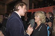 Ben Elliot and Camilla Parker Bowles, Tom Parker Bowles, Susan Hill and Matthew Rice host party to launch 'E is For Eating' Kensington Place. 3 November 2004.  ONE TIME USE ONLY - DO NOT ARCHIVE  © Copyright Photograph by Dafydd Jones 66 Stockwell Park Rd. London SW9 0DA Tel 020 7733 0108 www.dafjones.com