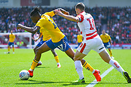 Joe Aribo of Charlton Athletic (17) in action during the EFL Sky Bet League 1 play off first leg match between Doncaster Rovers and Charlton Athletic at the Keepmoat Stadium, Doncaster, England on 12 May 2019.