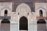 Interior of the Medersa Bou Inania (koranic school) in the medina of Fès.