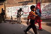 Kids playing Cricket on the streets of Lahore, Pakistan.